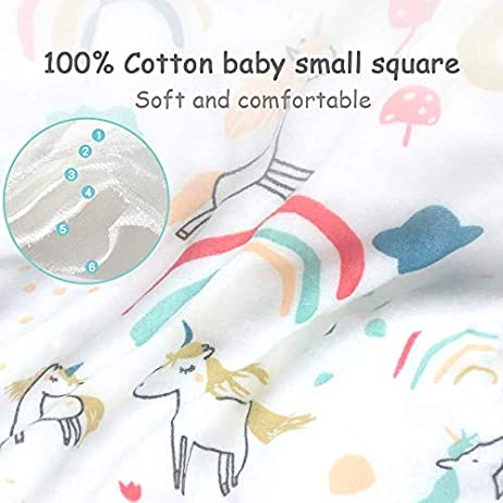 Caiery10pz Mussole Neonato/Asciugamani da bagno per bambini 30cm*30cm, extra morbidi, in mussola di cotone organico… Accessori 10pz 4