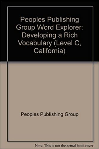 Peoples Publishing Group Word Explorer: Developing a Rich