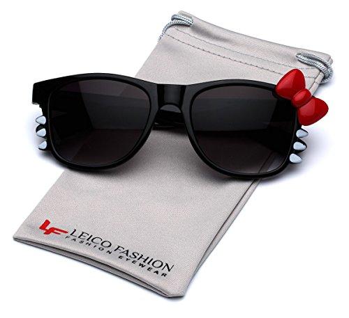 Hello Kitty Bow Women's Fashion Glasses with Bow and Whiskers - Black with Red - Glasses Hello Kitty Fashion