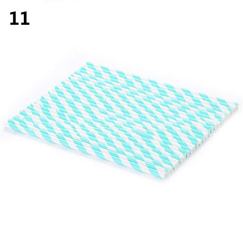 osmanthusFrag 25Pcs Disposable Food Grade Striped Paper Straws Party Tool Wedding Drinking Party Event Black