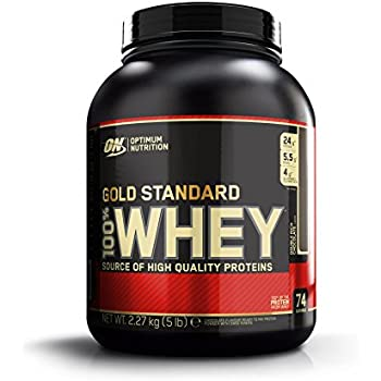 Optimum Nutrition Gold Standard 100% Whey Protein Powder, Double Rich Chocolate, 5 lb