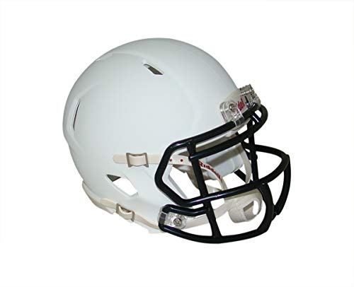 Matte White with Black Mask Blank Riddell Revolution SPEED Mini Football Helmet ()