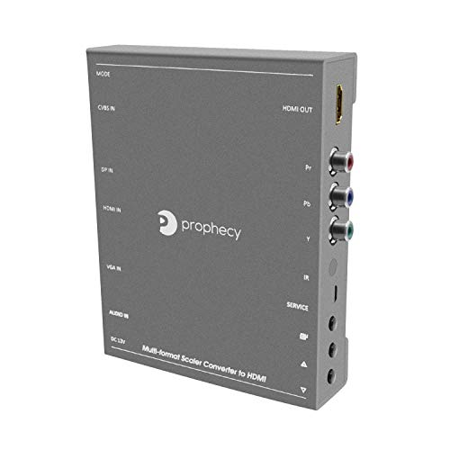gofanco Prophecy Multi Video Format to HDMI Scaler Converter - Input HDMI/Mini DP/VGA/CVBS/YPbPr, Upscale to HDMI Output up to 4K @30Hz, Frame Rate Conversion, VESA Resolutions (PRO-Scaler2HD) ()