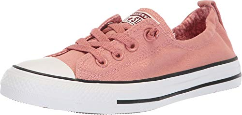 Converse Women's Chuck Taylor All Star Shoreline Slip Rust Pink/White/Black Slip-On Shoe 9 Women US