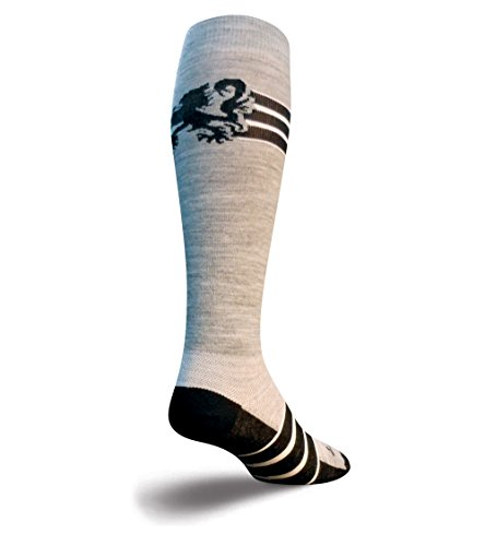 Sock Guy Wool Bike Sock - Sockguy Athletic Cycling/Running Wool Socks 12 In. Black Lion Wool S/M