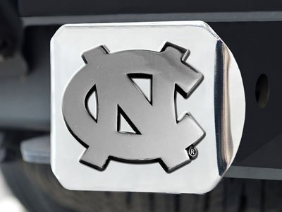 Fan Mats North Carolina Tar Heels Heavy Metal NCAA Chrome Hitch Cover