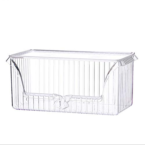 BWAM Vintage Bow-Knot Cosmetic Organiser Makeup Display Storage Stand Holder Box Jewelry Perfumes Lipsticks Divider Container Large Capacity for Dresser Bedroom Bathroom (Color : Clear)