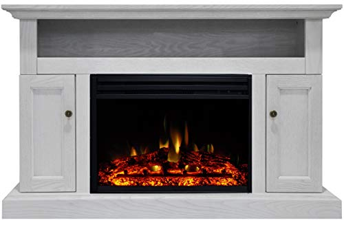 Cheap Cambridge Sorrento Heater with 47-in. White TV Stand Enhanced Log Display Multi-Color Flames and a Remote Control CAM5021-2WHTLG3 Electric Fireplace Black Friday & Cyber Monday 2019