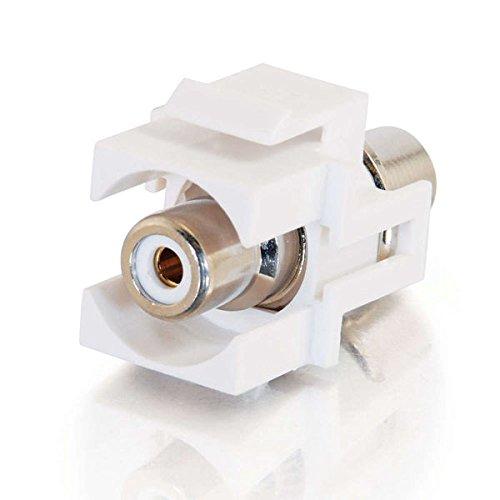 C2G 03822 Snap-In White RCA F/F Keystone Insert Module, White