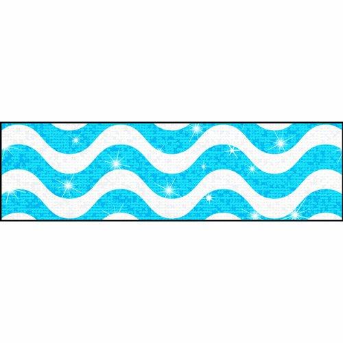 TREND enterprises, Inc. Wavy Blue Sparkle Plus Bolder Borders, 32.5'