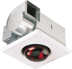 Broan 162m bath heater fan light bathroom fixture for Bathroom fan and light fixture