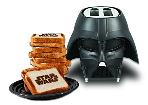 Uncanny Brands Star Wars Darth Vader Elite 2-Slice Toaster- Star Wars Icon Logo onto Your Toast