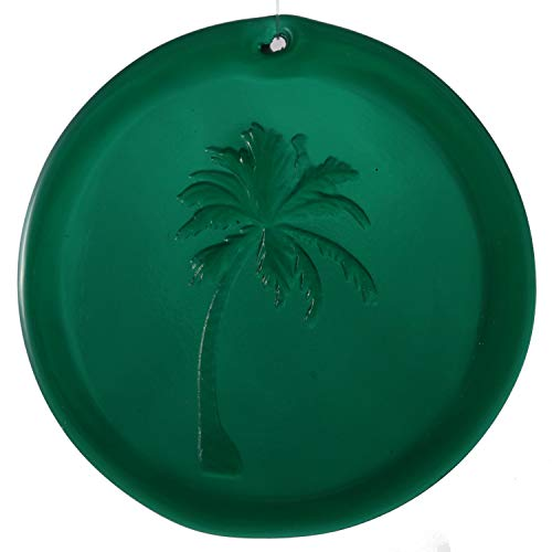 - Mission Glass Works 4-Inch Swaying Palm Tree Suncatcher in Green from Our Beach Collection - A Stunning Window Ornament and Gift from Pressed from Carved Steel Dies Made in The USA