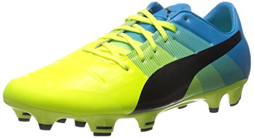 PUMA Men's Evopower 2.3 fg, Safety Yellow/Black, 10.5 D US