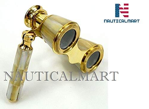 (NauticalMart Brass Binocular Mother of Pearl - Opera Binocular)