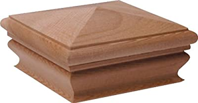 Woodway Products 870.1383 4-by-4-Inch Pyramid Post Cap, 12-Pack, Cedar