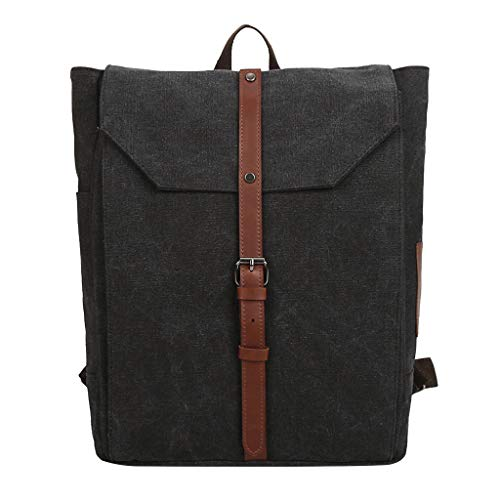 (Tronet Fashion Backpack/Vintage Canvas Outdoor Bag Large-Capacity Bag Travel Leisure Backpack)