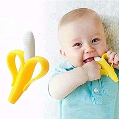 CARDEON Baby Toothbrush Yellow Banana Toothbrush, Training Teether Tooth Brush for Infant, Baby, and Toddler: Arts, Crafts & Sewing