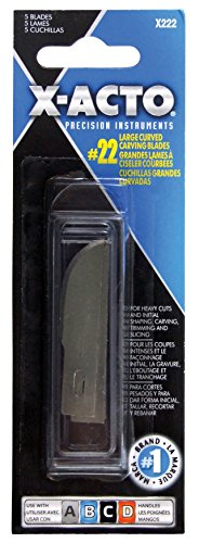 x-acto-x222-22-large-curved-carving-blade-5-count