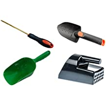Metal Detecting and Treasure Hunting Tool Kit #2 BLACK Sand Scoop, Hand Trowel, Super Scooper, and Brass Probe