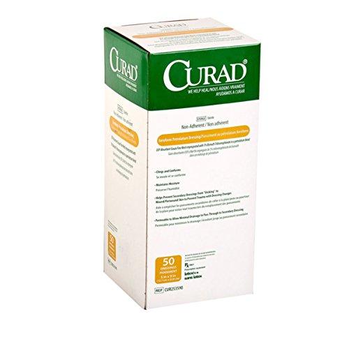 Medline CUR253590 Curad Sterile Latex Free Xeroform Petrolatum Gauze Dressing, 5