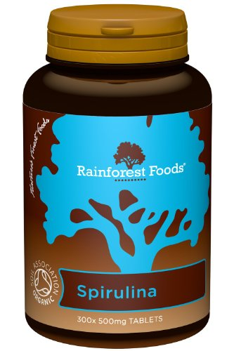Rainforest Foods Spirulina-Tabletten 300 X 500Mg, 1er Pack (1 x 150 g) - Bio