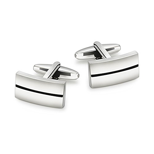 mrvan-mens-cufflinks-silver-brushed-shiny-checker-square-cuff-links