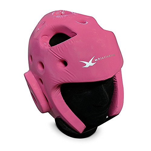 whistlekick Martial Arts Sparring Helmet (Coral Pink, Medium) with Free Backpack and Warranty-Taekwondo Martial Arts Sparring Equipment Gear Set