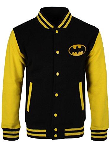 Batman Cazadora universitario City Gotham amarillo Negro Amarillo negro tipo rZnRrWBxvq