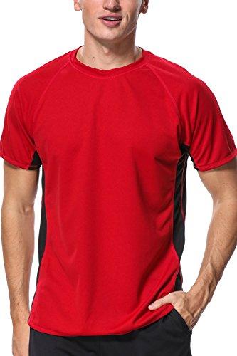 Mens Sun Protection Water Shirt Loose Fit Surfing Tee Adult Rash Swim Shirt L (Shirts Tee Adult Swim)