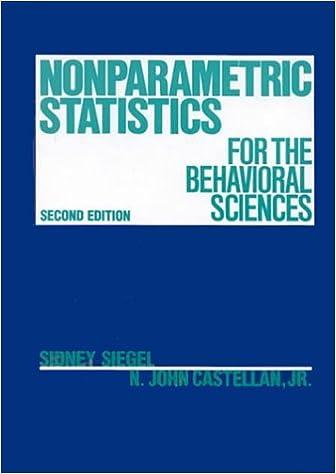 Nonparametric statistics for the behavioral sciences