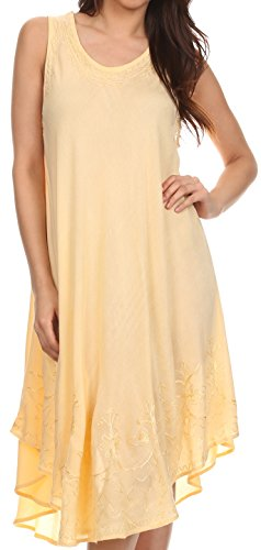 Sakkas 1051 Everyday Essentials Caftan Cover Up - Orange Cream - One (Cover Up Day Cream)