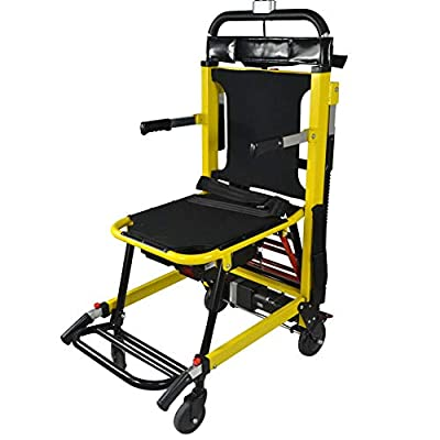 Electric Stair Climbing Wheelchair Load Capacity 350lbs,200W,4 Wheels Emergency Lightweight Portable Folding Evacuation Stair Chair