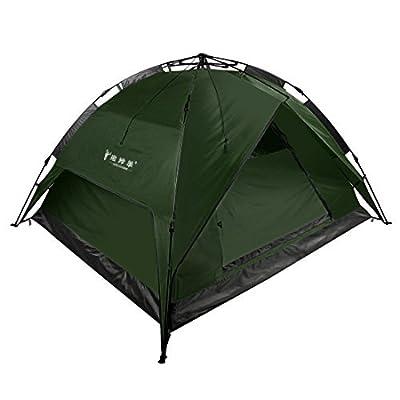 Camping 3–4personnes étanche double couche automatique Tente Vert armée