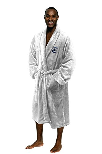Vancouver Canucks Blanket (Officially Licensed NHL Vancouver Canucks Men's Silk Touch Lounge Robe, Large/X-Large)