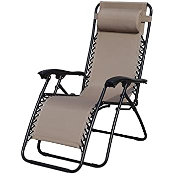 grand patio premium infinity zero gravity chair weather resistant patio lounge chairs super durable reclining patio chair with cup holder beige