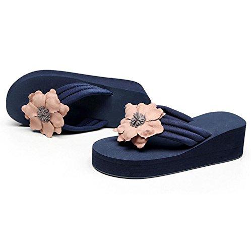 nacional y desgaste versión Sandalias playa estilo Verano 06 Color Zapatillas femenino de exterior antideslizantes talón de sandalias los de de gruesa con tam de suela zapatillas zapatos coreana verano ICwPA