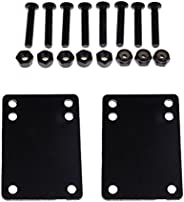 DYNWAVE Skateboard Hardware Set with Rubber Riser Pads, Mounting Screws and Nuts for Longboards Scooters Cruis