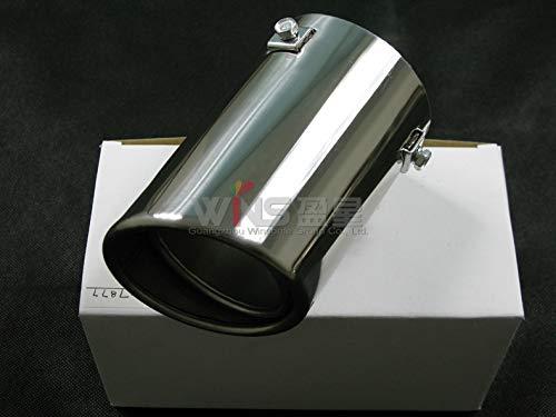 Sweet.love4you for Toyota Land Cruiser Prado FJ120 2003-2009 Stainless Steel Exhaust Muffler Tips Car Styling Tuning ()