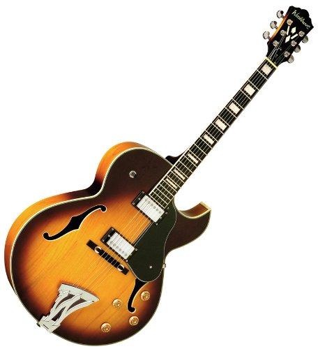 Washburn Jazz j3ts Sunburst Florentine guitarra eléctrica w/caso: Amazon.es: Instrumentos musicales