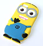 3D Blue silicone rubber material Despicable Me Yellow Minion phone case skin cover for iphone Case for iphone 5 5S 5C
