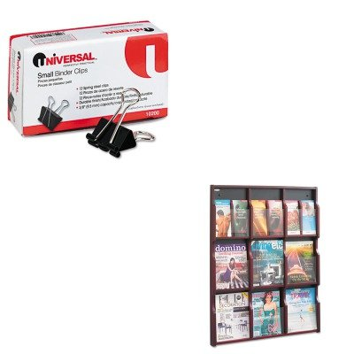 KITSAF5702MHUNV10200 - Value Kit - Safco Expose Adj Magazine/Pamphlet 9-Pocket Display (SAF5702MH) and Universal Small Binder Clips (UNV10200) by Safco