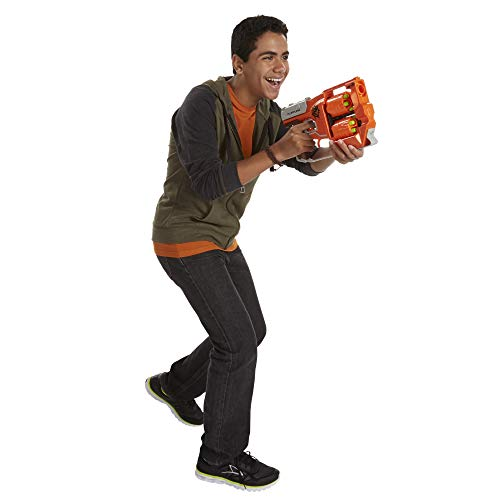Nerf FlipFury Zombie Strike Toy Blaster with 2 Flipping Drums, 12 Elite Darts, For Kids, Teens, Adults