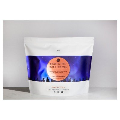 This is L. Chlorine Free Ultra Thin Overnight Pads with Wings - 36ct by l.