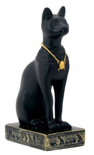 Egypt 3-Inch Egyptian Black Bastet Feline Cat Goddess Statue (Black Cat Statues)