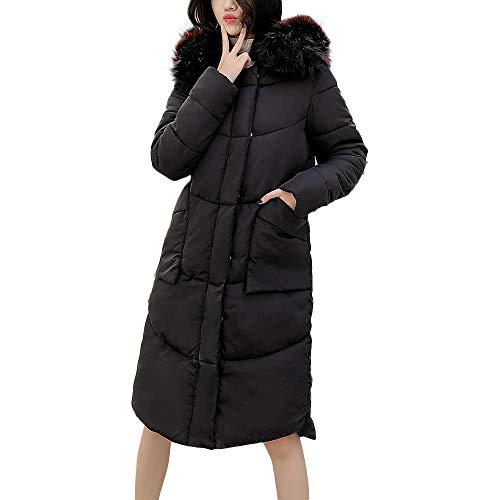 - Sunhusing Women Winter Warm Cotton Overcoat Solid Color Long-Sleeve Zipper Snap Pocket Long Outerwear