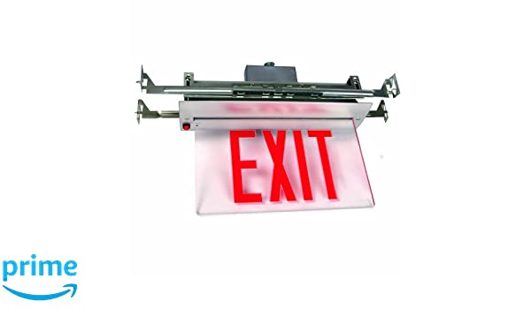 Sunlite 04331-SU EXIT//EDGE//RC//2F//RM//WH//EM//NYC Recessed Exit Light