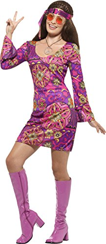 Chick Hippie Plus Costumes (Woodstock Hippie Mod Chick Adult / Plus)