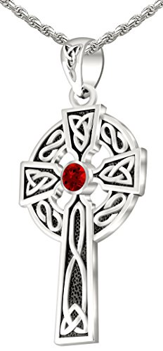 Men's 0.925 Sterling Silver Simulated Ruby 1.5