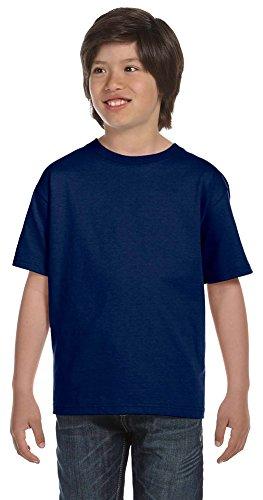 Gildan DryBlend Youth 5.6 oz., 50/50 T-Shirt, Medium, NAVY